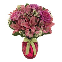 Precious pink flower bouquet for sale at Ingallina's online gift shop